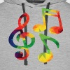 Colorful music notes - Men's Premium Hoodie