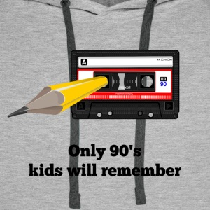 Only 90s kids will remember - Tape - Men's Premium Hoodie