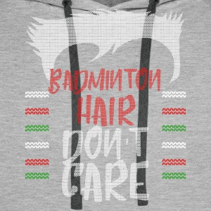 Ugly sweater christmas gift for Badminton - Men's Premium Hoodie