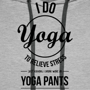 I do yoga - Men's Premium Hoodie