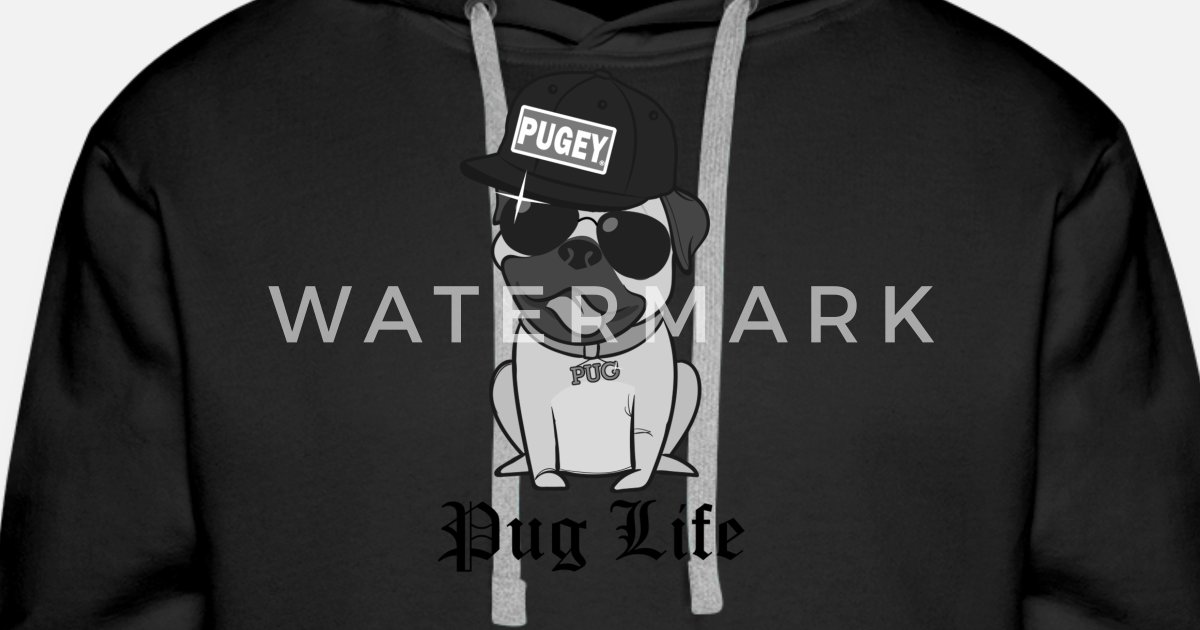 1d716f5c2f3 Cool Pugey Happy Pug Life Funny Thug Hat by