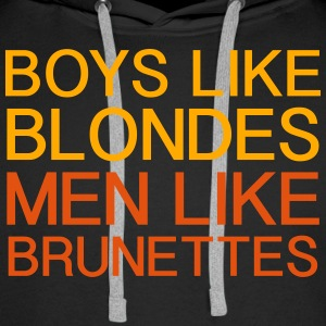 Boys Like Blondes - Men's Premium Hoodie