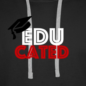 EDUCATED RED WHITE - Men's Premium Hoodie