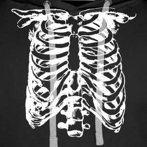 WHITE CREEPY RIB CAGE - Men's Premium Hoodie