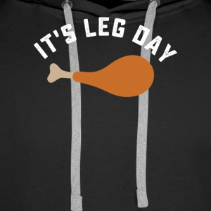 Funny thanksgiving turkey leg day tshirt - Men's Premium Hoodie