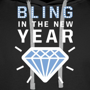 Bling in the new year diamond sylvester tee gift - Men's Premium Hoodie