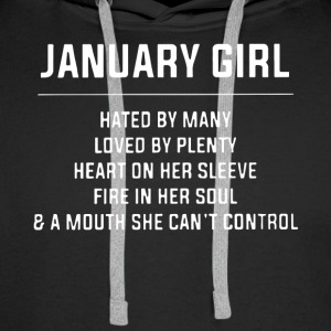 January girl hated by many loved by plenty heart o - Men's Premium Hoodie