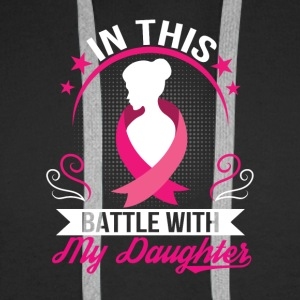 Breast Cancer Daughter Battle With Daughter - Men's Premium Hoodie