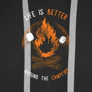 Life is better around the Campfire - Men's Premium Hoodie