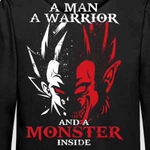 dragon ball majin vegeta monster in side - Men's Premium Hoodie