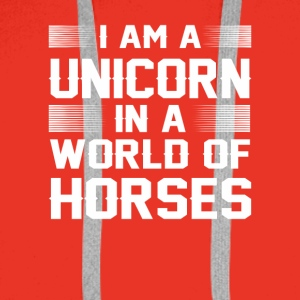 I Am A Unicorn In A World Of Horse Shirt - Men's Premium Hoodie