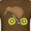 Kiwi Riding Bike With Kiwi Wheels - Men's T-Shirt