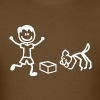Nosework Dog and Handler in Stick Figures - Men's T-Shirt