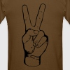 PEACE - FREEDOM - LIBERTY - handsign - hand - sign - Men's T-Shirt