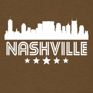 Retro Nashville Skyline - Men's T-Shirt