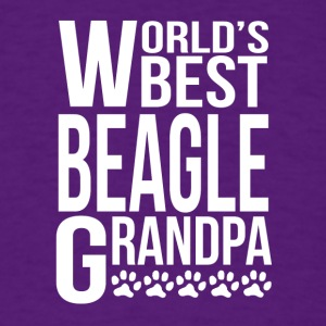 World's Best Beagle Grandpa - Men's T-Shirt