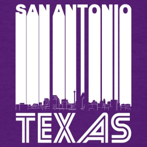 Retro San Antonio Texas Skyline - Men's T-Shirt