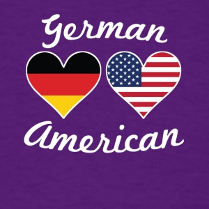 German American Flag Hearts - Men's T-Shirt