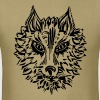 Wolf, symbol of loyalty and strength, wildlife,  - Men's T-Shirt