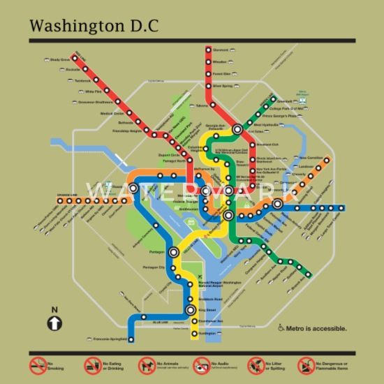 Dc Subway Map Pillow.Washington Dc Underground Map Men S T Shirt Spreadshirt