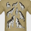 Geometric Wolves Howling At Moon - Men's T-Shirt