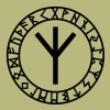 Algiz rune, rune of higher vibrations, Odin, Runes - Men's T-Shirt