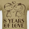 8th Anniversary 8 Years of Love Gift - Men's T-Shirt