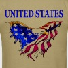 United States Eagle Flag - Men's T-Shirt
