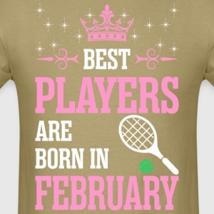 Best Players Are Born In February - Men's T-Shirt