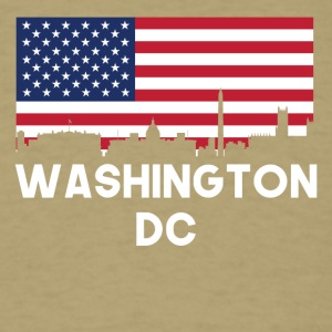 Washington DC American Flag Skyline - Men's T-Shirt