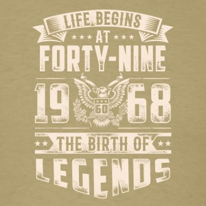Life Begins At Forty Nine Tshirt - Men's T-Shirt