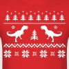 Ugly T-Rex Dinosaur Christmas Sweater - Men's T-Shirt
