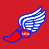 USA TRACK AND FIELD WINGED FOOT - Men's T-Shirt