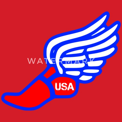Usa Track And Field Winged Foot By Jimbosports Spreadshirt