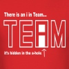 The i in TEAM is hidden in the a-hole - Men's T-Shirt