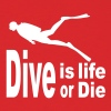 Dive is life dive or die - Men's T-Shirt