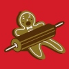 A rolling pin and a gingerbread man  - Men's T-Shirt