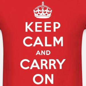 Keep Calm and Carry On (white)