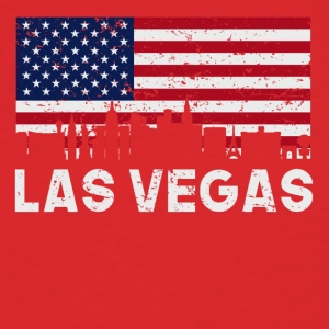 Las Vegas NV American Flag Skyline Distressed - Men's T-Shirt