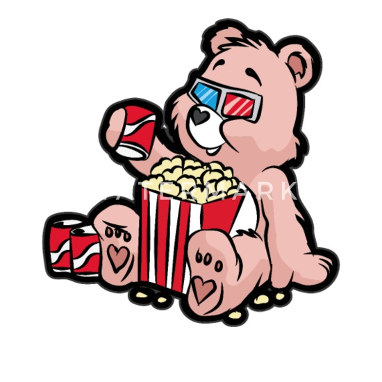 Teddy Bear Watching Movie 3d Cinema Popcorn Soda Men S T Shirt Spreadshirt