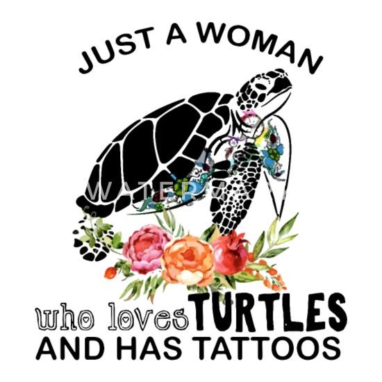 Just A Woman Who Loves Turtles White TShirt M-6XL