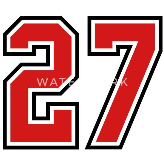 27 sports jersey football number' Men's T-Shirt | Spreadshirt