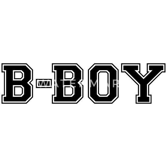 bboy varsity college style text logo Men's T-Shirt | Spreadshirt