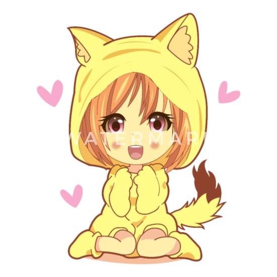 Cute Kawaii Chibi Anime Girl Little Cat Girl Men S T Shirt Spreadshirt