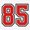 85 sports jersey football number - Men's T-Shirt