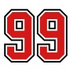 99 sports jersey football number - Men's T-Shirt