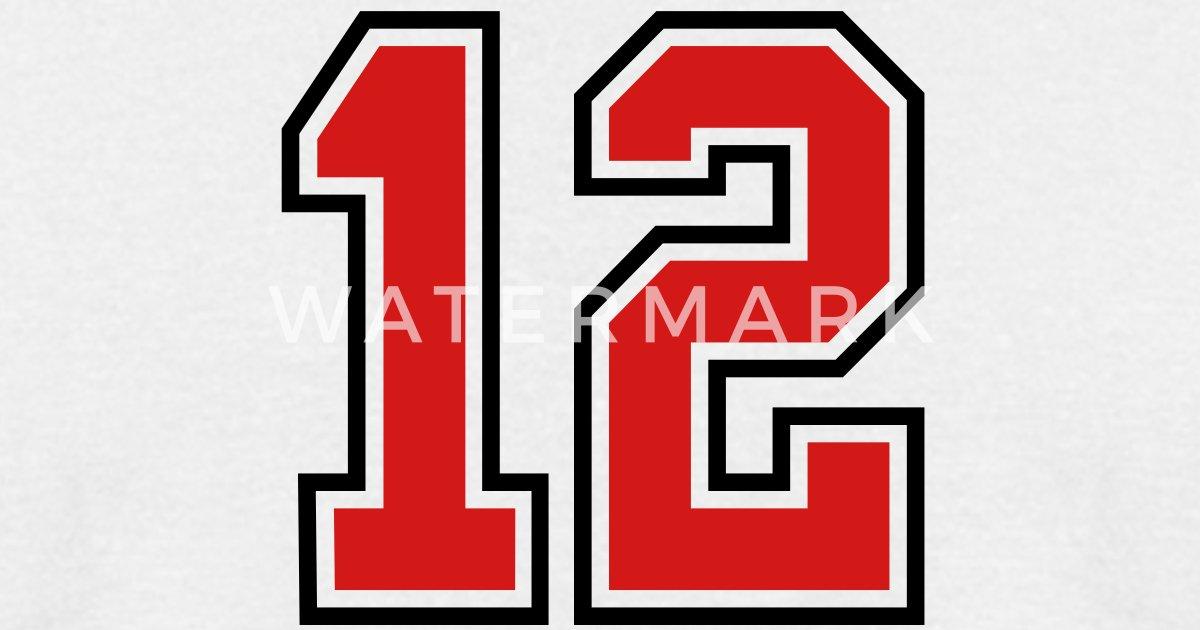 12 Sports Jersey Football Number T Shirt Spreadshirt
