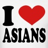 I Love Asians - Men's T-Shirt