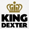 King dexter name thing crown - Men's T-Shirt