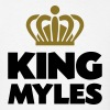 King myles name thing crown - Men's T-Shirt